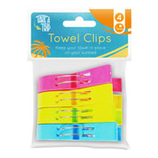 Colourful Towel Clips 4 Pack