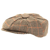 Mens 8-Panel Tweed Cap
