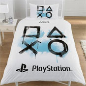 Official PlayStation Inkwash Reversible Duvet Set