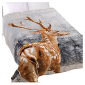 Winter Stag Cozy Luxurious Mink Throw