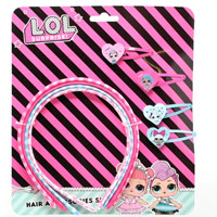 Official LOL Surprise 4pc Hair Band and 4pc Clip Set