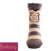 Ladies Owl Gripper Slipper Socks