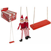 Christmas Elf Polystone Swing