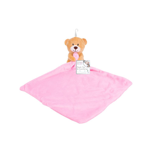 First Steps Baby Comforter with Plush Toy Pink