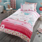 Childrens Bertie And Friends Panel Duvet Set