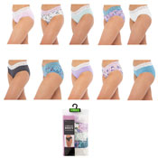 Ladies Lace High Leg Briefs 5 Pack