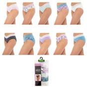 Ladies Lace High Leg Briefs 5 Pack