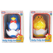 Penguin & Chicken Roly Poly Musical Chime Toy