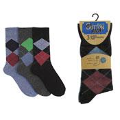 Mens Cotton Rich Light Elasticated Top Socks