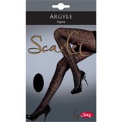 Scarlet Argyle Tights 50 Denier