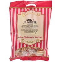 Mint Humbugs Traditional Sweets 150g Bag
