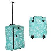 Super Lightweight Turquoise Flower Cabin Travel Bag