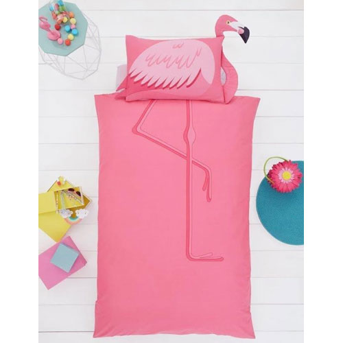 Creative Novelty Shaped Duvet Reversible - Flamingo