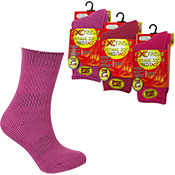 Girls Extreme Tog Thermal Socks Plain Pink