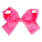Fashion Hair Bow With Salon Style Clip Pink