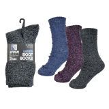 Ladies 3 Pack Cotton Rich Boot Socks