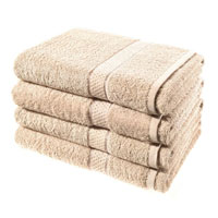 Luxury Cotton Bath Sheet Sand