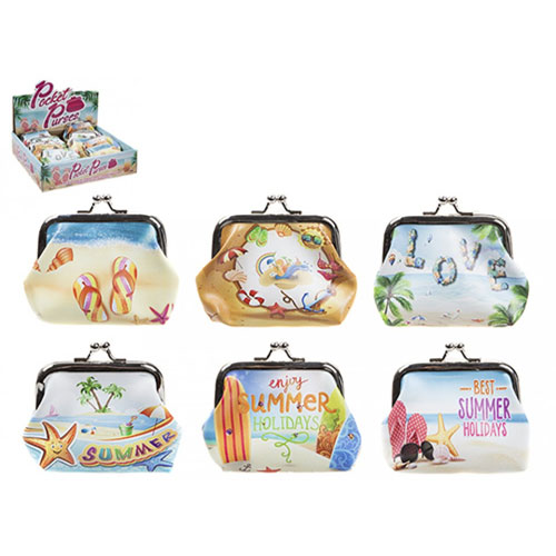 Girls Summer Time Design Purses With Clasp