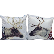 Christmas Reindeer Jumper Cushion Cover