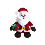 Christmas Santa With Hat & Scarf Soft Toy