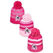 Childrens Minnie Mouse Hat With Pom Pom