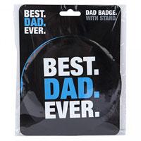 Jumbo Best Dad Ever Badge