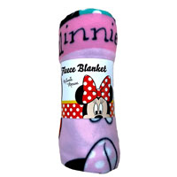 Official Disney Minnie Mouse Makeover Fleece Blanket