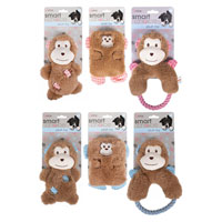 Plush Monkey Puppy Toys With Squeaker