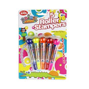 5 Roller Stampers With Fibre Tip Pens