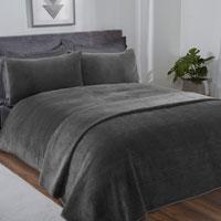 Velour Pinsonic Duvet Set Grey