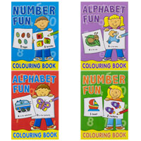 Alphabet And Number Colouring Book
