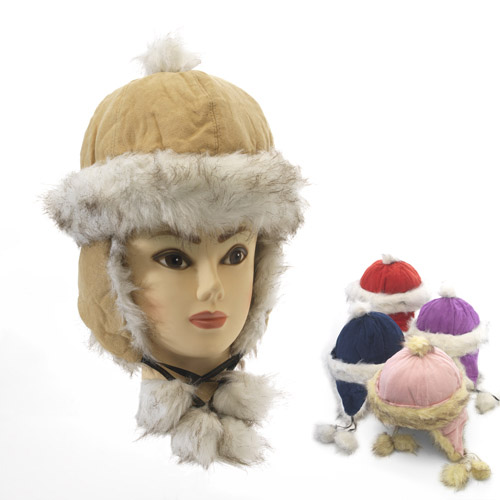 Luxury Soft Alaskan Trapper Hats with Faux Fur Lining