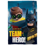 Batman Team Hero Childrens Character Fleece Blanket Throw