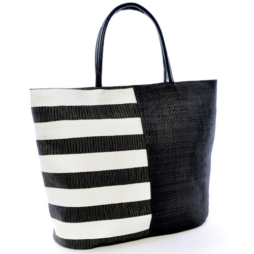 Block/Stripe Beach/Swim Bag