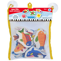 Sea Life Bath Stickers In Hanging Bag