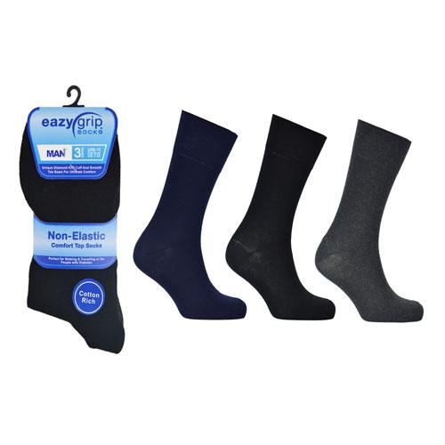 Eazy Grip Assorted Dark Socks