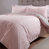 Essential Reversible Duvet Set Pink