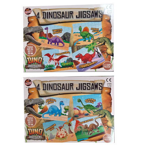 54 Piece Dinosaur Jigsaw 2 Assorted