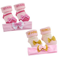 Baby Girl Sparkle Socks And Headband
