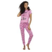 Ladies Invest In Rest Long Pyjamas Set