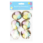 Easter Egg Nest Decorations 6 Pack