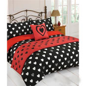 5 Piece Bed in a Bag Set Heart of Hearts