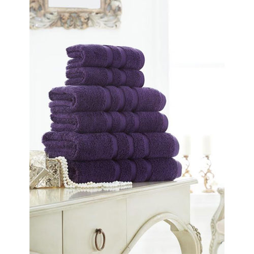 Supreme Cotton Bath Towels Purple