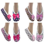 Cozees Ladies Animal Design French Fleece Slippers