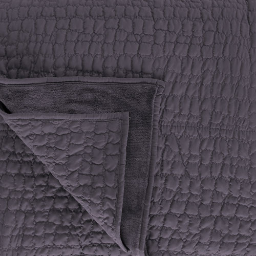 Sleepdown Luxurious Cosy Fleece Throw Charcoal