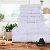 Luxurious 8 Piece Towel Bale Set White
