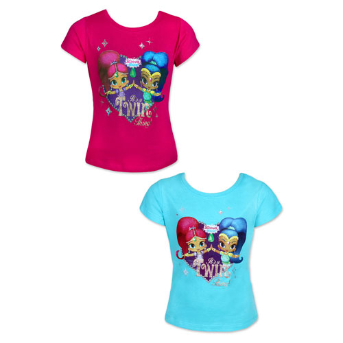 Shimmer & Shine Short Sleeve Printed T-Shirt