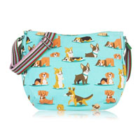 Dog Multi Purpose Crossbody Bag Blue