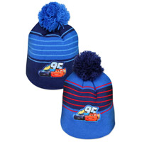 Official Boys Cars Knitted Bobble Hat