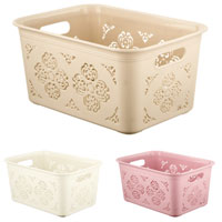 Small Floral Storage Basket